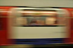 Aceleración subterráneo de Londres Imagen de archivo libre de regalías
