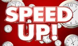 Acelere el tiempo de relojes aceleran palabras libre illustration