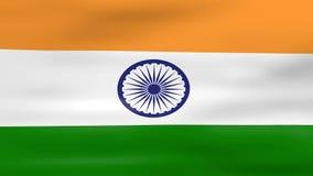 Acenar a bandeira da Índia, apronta-se para o laço sem emenda ilustração royalty free
