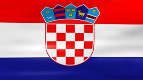 Acenar a bandeira da Croácia, apronta-se para o laço sem emenda ilustração stock