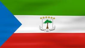 Acenar a bandeira da Guiné Equatorial, apronta-se para o laço sem emenda ilustração do vetor