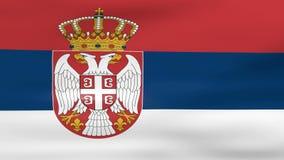 Acenar a bandeira da Sérvia, apronta-se para o laço sem emenda ilustração do vetor