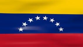 Acenar a bandeira da Venezuela, apronta-se para o laço sem emenda vídeos de arquivo