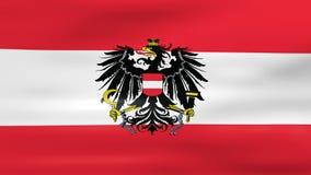 Acenar a bandeira de Áustria, apronta-se para o laço sem emenda ilustração royalty free