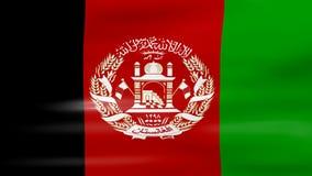 Acenar a bandeira de Afeganistão, apronta-se para o laço sem emenda ilustração stock