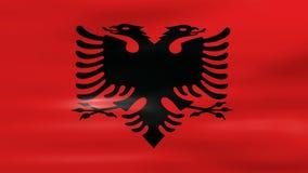 Acenar a bandeira de Albânia, apronta-se para o laço sem emenda ilustração stock