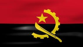 Acenar a bandeira de Angola, apronta-se para o laço sem emenda ilustração stock