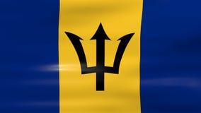 Acenar a bandeira de Barbados, apronta-se para o laço sem emenda ilustração stock