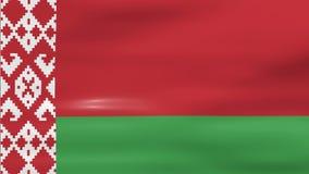 Acenar a bandeira de Bielorrússia, apronta-se para o laço sem emenda ilustração royalty free