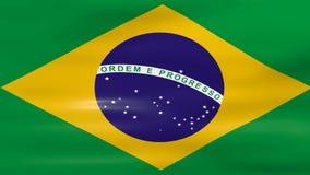 Acenar a bandeira de Brasil, apronta-se para o laço sem emenda ilustração stock