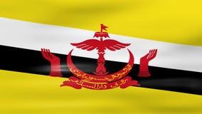 Acenar a bandeira de Brunei Darussalam, apronta-se para o laço sem emenda ilustração stock
