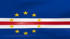 Acenar a bandeira de Cabo Verde, apronta-se para o laço sem emenda ilustração do vetor