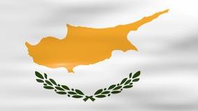 Acenar a bandeira de Chipre, apronta-se para o laço sem emenda ilustração do vetor