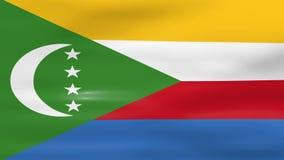 Acenar a bandeira de Comores, apronta-se para o laço sem emenda ilustração stock