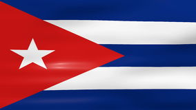 Acenar a bandeira de Cuba, apronta-se para o laço sem emenda ilustração stock