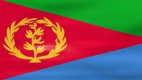 Acenar a bandeira de Eritreia, apronta-se para o laço sem emenda ilustração stock