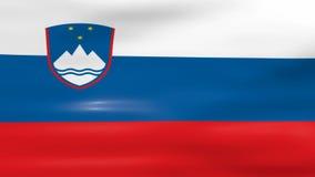 Acenar a bandeira de Eslovênia, apronta-se para o laço sem emenda ilustração stock
