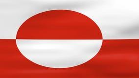 Acenar a bandeira de Gronelândia, apronta-se para o laço sem emenda ilustração stock