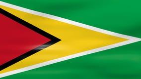 Acenar a bandeira de Guiana, apronta-se para o laço sem emenda ilustração royalty free