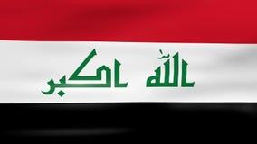 Acenar a bandeira de Iraque, apronta-se para o laço sem emenda ilustração royalty free