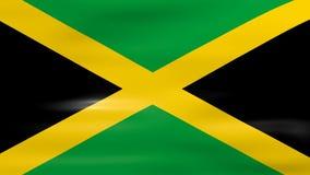 Acenar a bandeira de Jamaica, apronta-se para o laço sem emenda ilustração stock