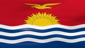 Acenar a bandeira de Kiribati, apronta-se para o laço sem emenda ilustração stock