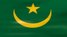 Acenar a bandeira de Mauritânia, apronta-se para o laço sem emenda ilustração stock