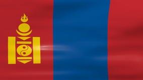 Acenar a bandeira de Mongólia, apronta-se para o laço sem emenda ilustração stock