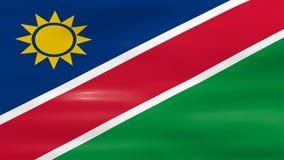 Acenar a bandeira de Namíbia, apronta-se para o laço sem emenda ilustração stock