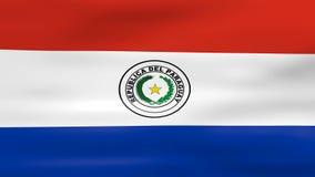 Acenar a bandeira de Paraguai, apronta-se para o laço sem emenda ilustração royalty free