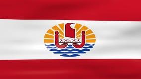 Acenar a bandeira de Polinésia francesa, apronta-se para l sem emenda ilustração do vetor