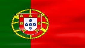 Acenar a bandeira de Portugal, apronta-se para o laço sem emenda video estoque