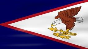 Acenar a bandeira de Samoa Americana, apronta-se para o laço sem emenda ilustração stock