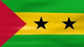 Acenar a bandeira de Sao Tome and Principe, apronta-se para o laço sem emenda ilustração royalty free