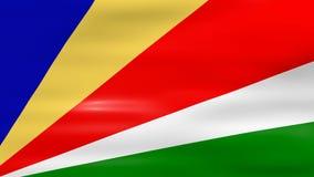 Acenar a bandeira de Seychelles, apronta-se para o laço sem emenda ilustração royalty free