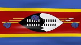 Acenar a bandeira de Suazilândia, apronta-se para o laço sem emenda ilustração stock