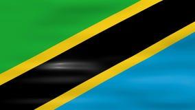 Acenar a bandeira de Tanzânia, apronta-se para o laço sem emenda ilustração stock