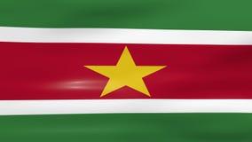 Acenar a bandeira do Suriname, apronta-se para o laço sem emenda ilustração stock
