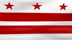 Acenar a bandeira do Washington DC, apronta-se para o laço sem emenda ilustração royalty free