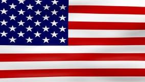 Acenar a bandeira dos EUA, apronta-se para o laço sem emenda ilustração royalty free