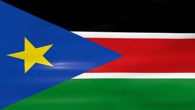 Acenar a bandeira sul de Sudão, apronta-se para o laço sem emenda ilustração royalty free