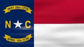 Acenar Carolina State Flag norte, apronta-se para o laço sem emenda ilustração stock