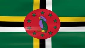 Acenar Dominica Flag, apronta-se para o laço sem emenda ilustração royalty free