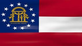 Acenar Georgia State Flag, apronta-se para o laço sem emenda ilustração do vetor
