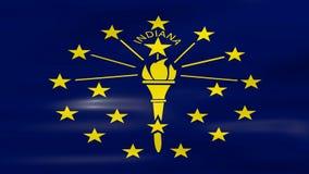 Acenar Indiana State Flag, apronta-se para o laço sem emenda ilustração do vetor