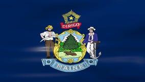 Acenar Maine State Flag, apronta-se para o laço sem emenda ilustração stock