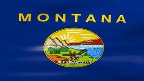 Acenar Montana State Flag, apronta-se para o laço sem emenda ilustração do vetor