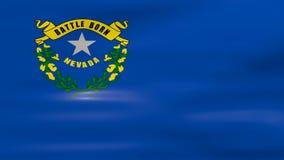 Acenar Nevada State Flag, apronta-se para o laço sem emenda ilustração do vetor