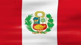 Acenar Peru Flag, apronta-se para o laço sem emenda ilustração do vetor