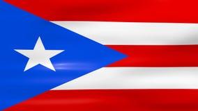 Acenar Puerto Rico Flag, apronta-se para o laço sem emenda ilustração royalty free